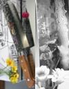 Hiro Knives - Shiki Tsuchime Damascus - Nakiri